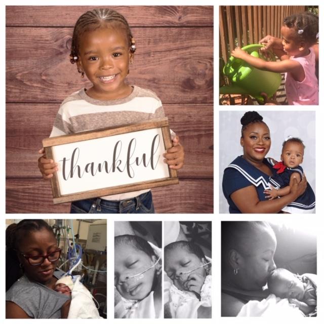 Soror Tatianna Richardson's daughter Teagan from NICU to now.