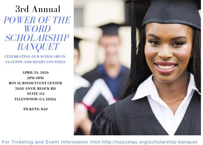 April 28, 2019: Annual Scholarship Banquet